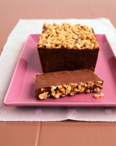 Frozen Chocolate, Peanut Butter and Banana Loaf