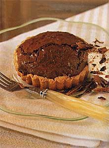 Chocolate-Whiskey Soufflé Tarts