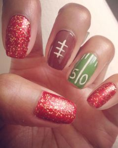 SUPER Bowl Sunday Nails