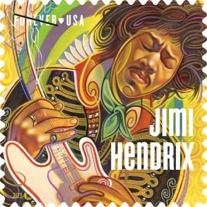 Jimi Hendrix Postal Stamp