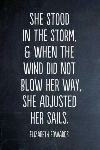 She Stood Strong in the Storm