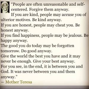 Be Good Anyway_ Mother Teresa