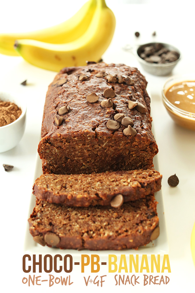 Chocolate-Peanut-Butter-Banana-Snack-Bread-vegan-glutenfree-and-One ...