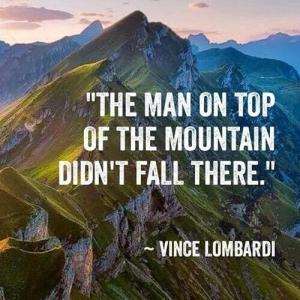The Man on Top of the Mountain Didn't Fall There