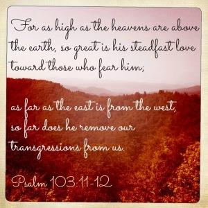 Psalm 103.11-12